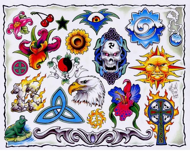 Цветные татуировки эскизы (22)