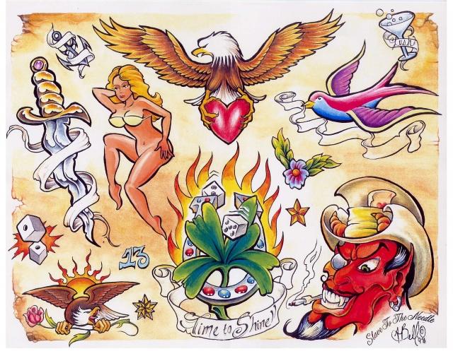 Цветные татуировки эскизы (4)