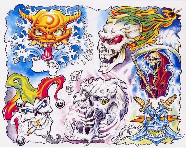 Цветные татуировки эскизы (20)