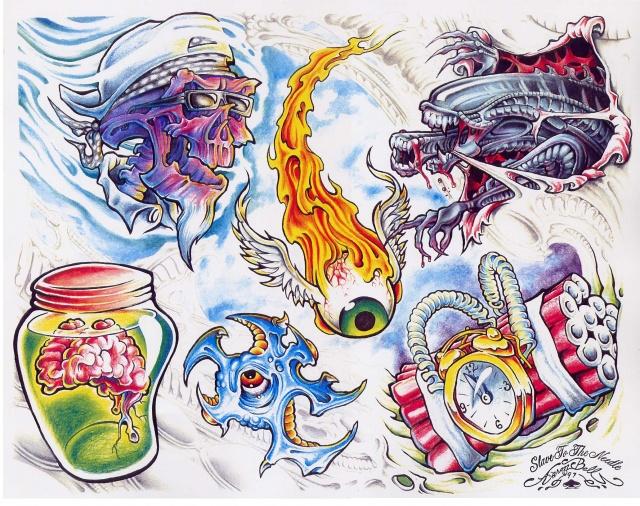Цветные татуировки эскизы (19)