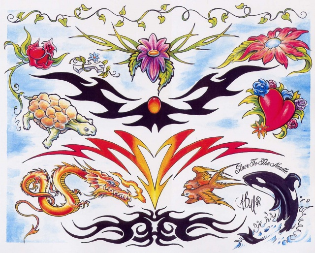 Цветные татуировки эскизы (16)