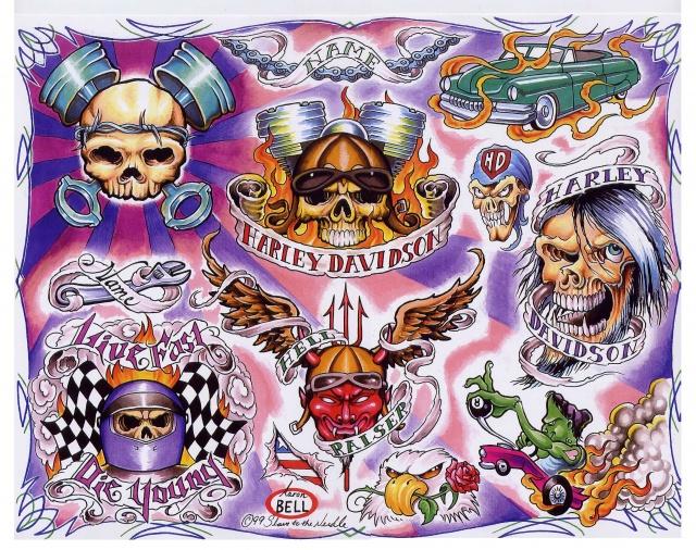 Цветные татуировки эскизы (15)