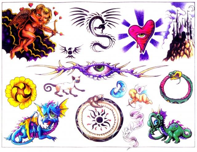 Цветные татуировки эскизы (7)