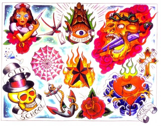 Цветные татуировки эскизы (6)