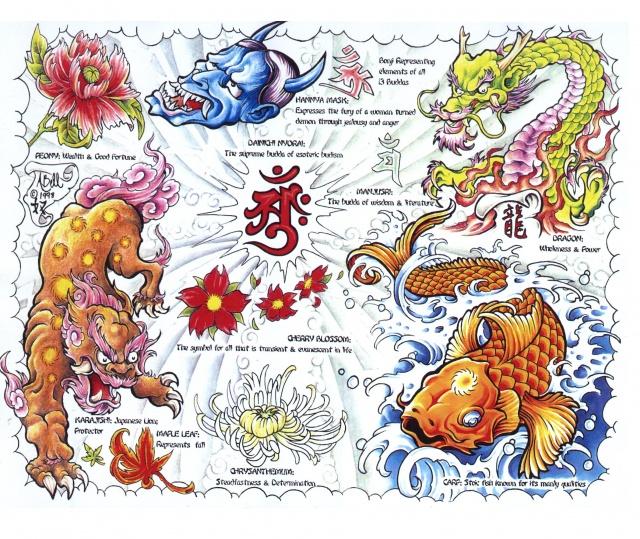Цветные татуировки эскизы (24)