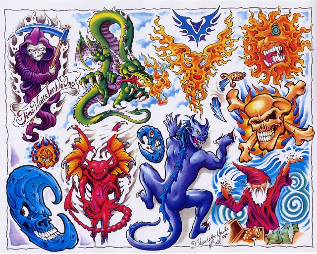 Цветные татуировки эскизы (23)
