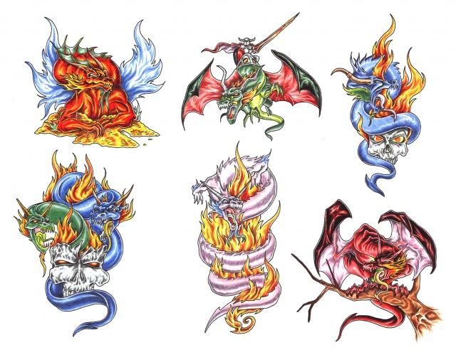 эскизы татуировки дракона (13)