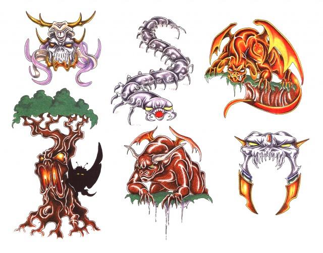 эскизы татуировки дракона (4)