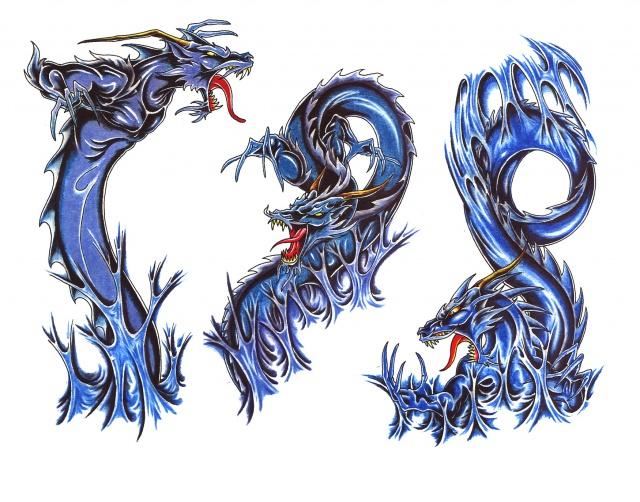эскизы татуировки дракона (3)