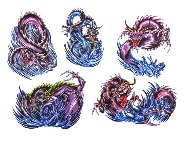 эскизы татуировки дракона (2)