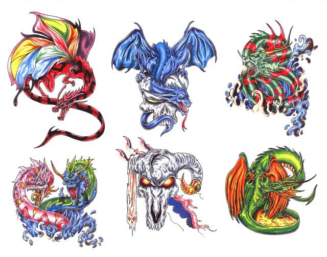 эскизы татуировки дракона (12)