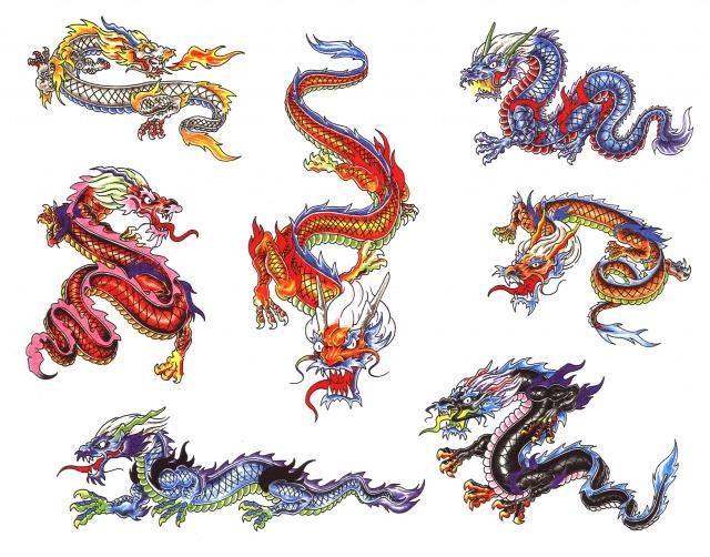эскизы татуировки дракона (8)