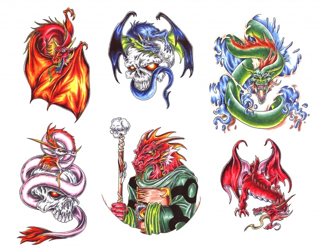 эскизы татуировки дракона (7)