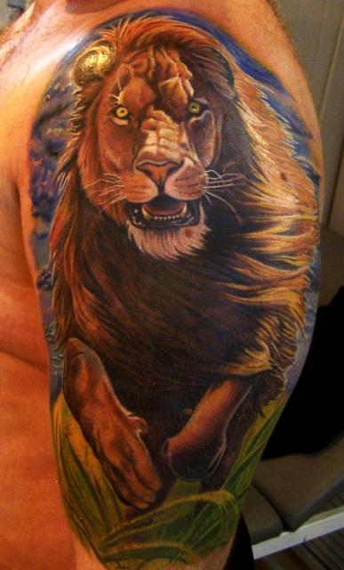 татуировка лев (15)