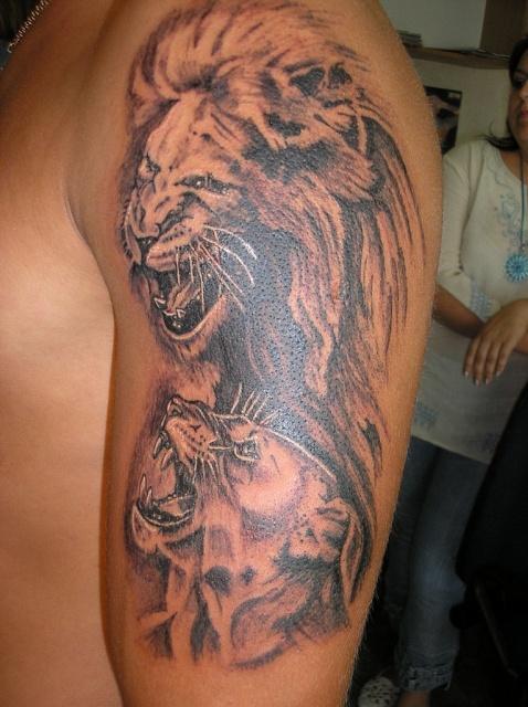 татуировка лев (12)