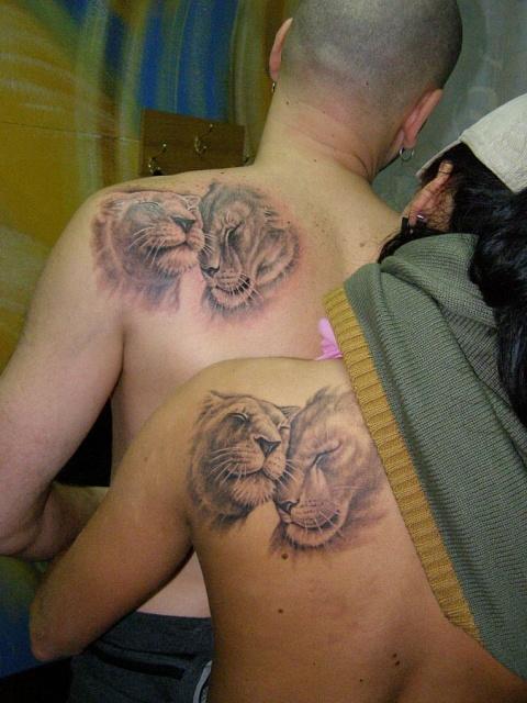 татуировка лев (10)
