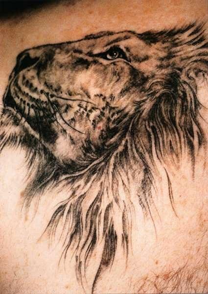 татуировка лев (9)