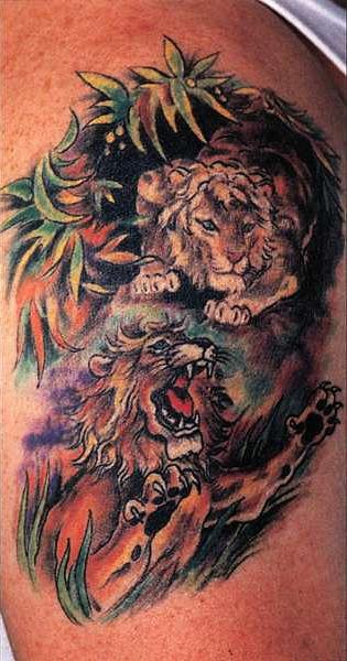 татуировка лев (24)