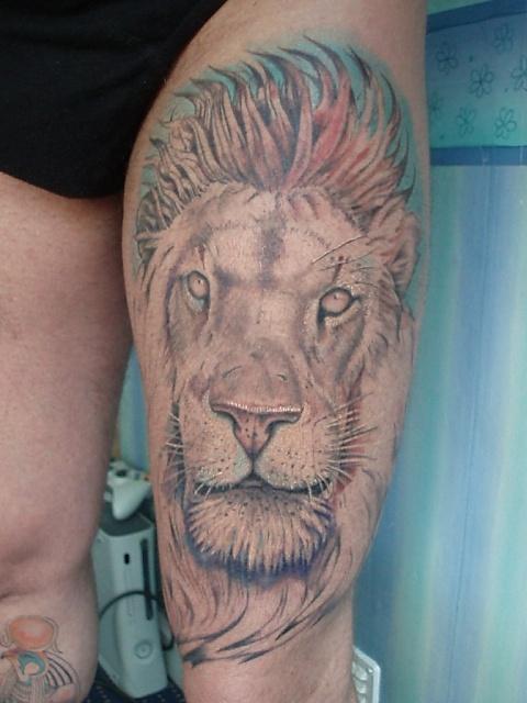 татуировка лев (2)