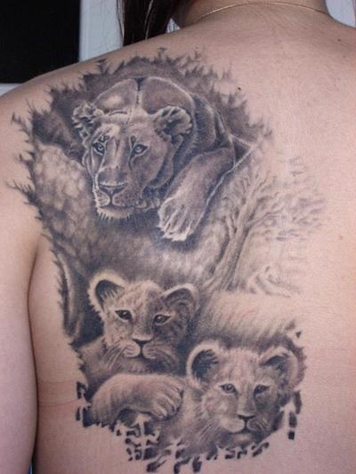 татуировка лев (22)