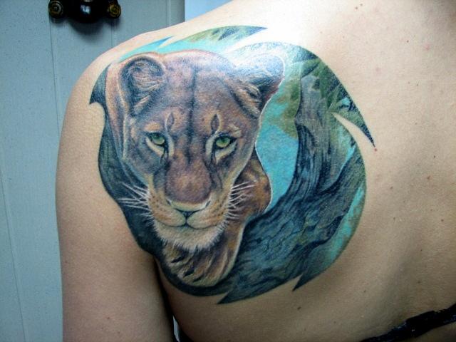 татуировка лев (19)