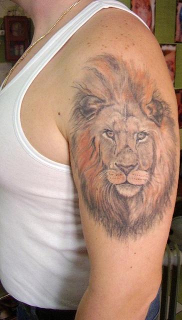 татуировка лев (17)