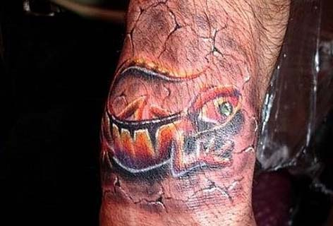 Татуировка ящерица (11)