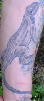 Татуировка ящерица (6)