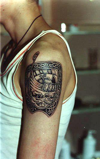 Татуировки драккар (23)