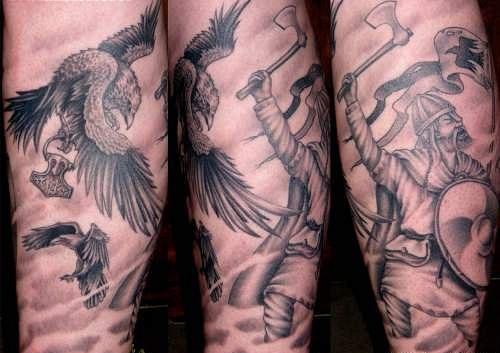 Татуировки драккар (20)