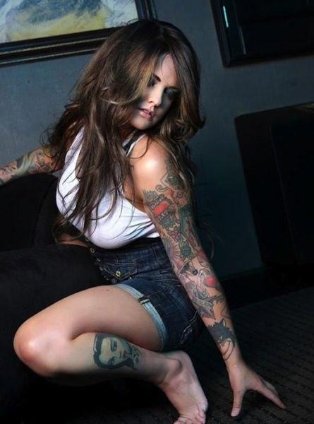красивые татуировки для девушек на руках и ноге