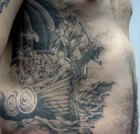 Татуировки драккар (17)