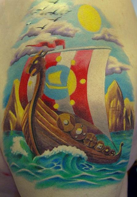 Татуировки драккар (16)