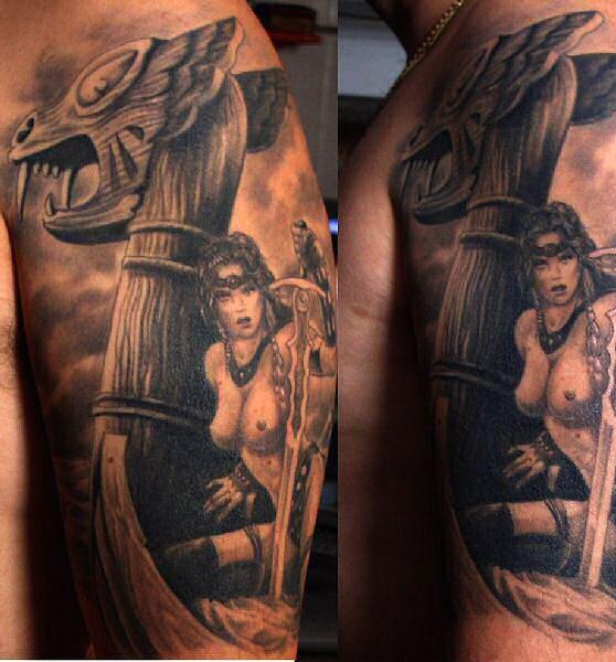 Татуировки драккар (15)