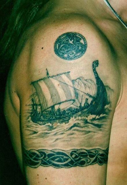 Татуировки драккар (14)