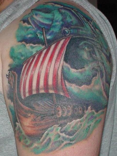 Татуировки драккар (12)