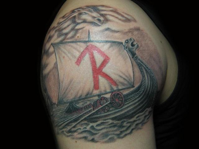 Татуировки драккар (9)