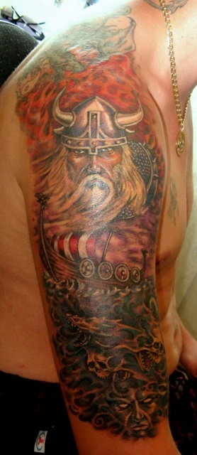 Татуировки драккар (8)