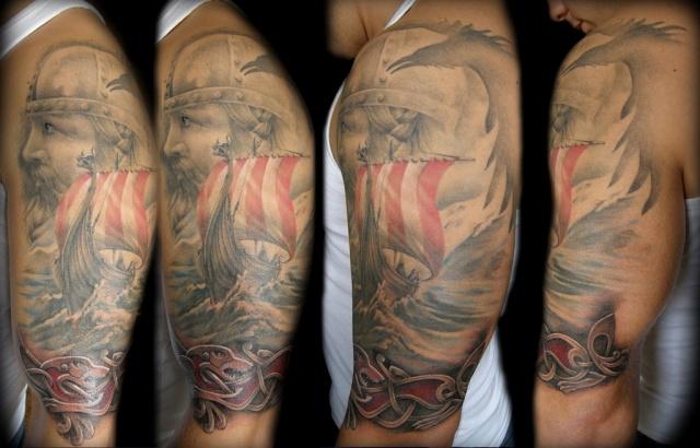 Татуировки драккар (5)