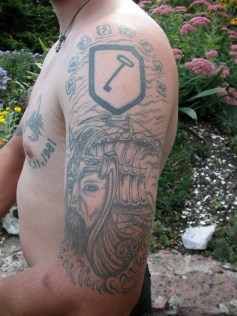 Татуировки драккар (4)
