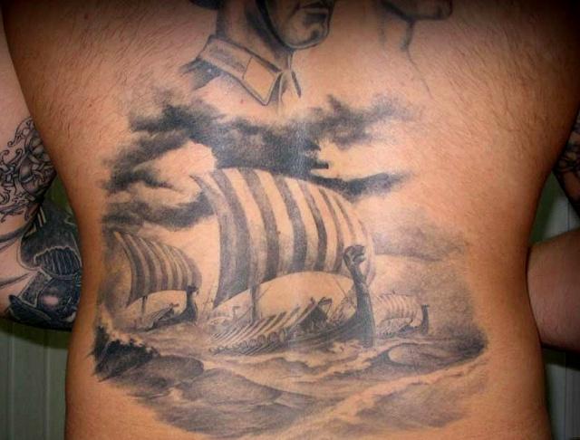 Татуировки драккар (3)