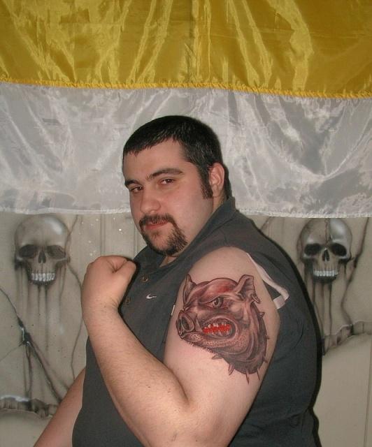 татуировка эскиз кабан (6)