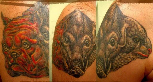 татуировка эскиз кабан (5)