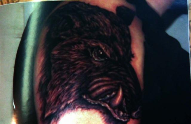 татуировка эскиз кабан (4)