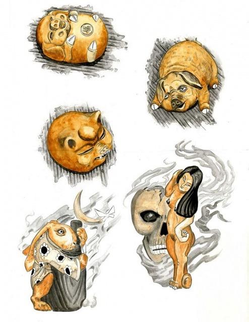 татуировка эскиз кабан (2)