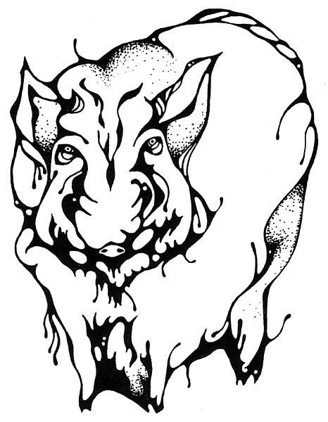 татуировка эскиз кабан (17)