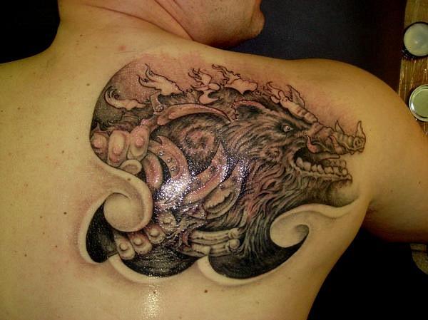 татуировка эскиз кабан (16)