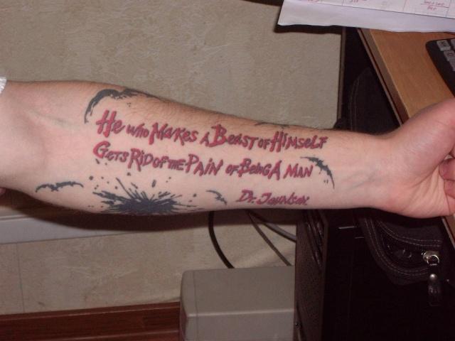 Татуировки надписи 3