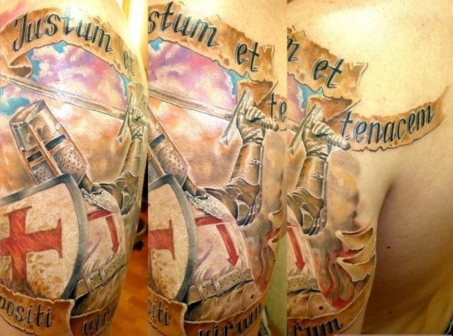 Татуировки тамплиеров на руке