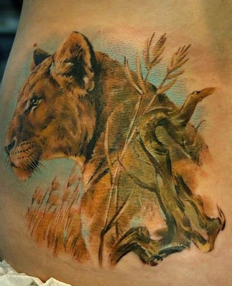 лев татуировка (7)